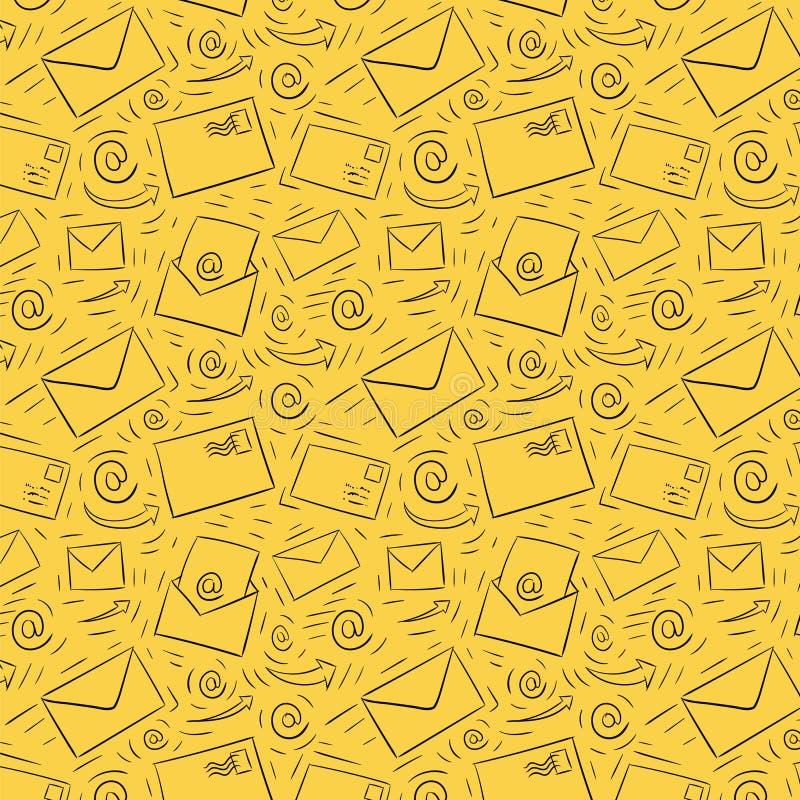Teste padrão sem emenda do email ilustração stock