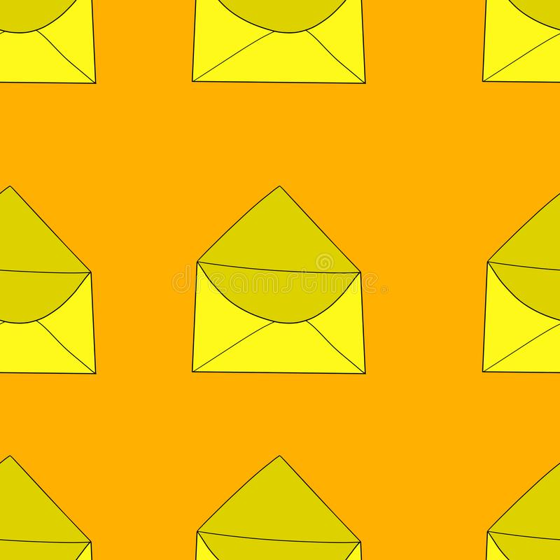 Teste padrão sem emenda do envelope ilustração royalty free