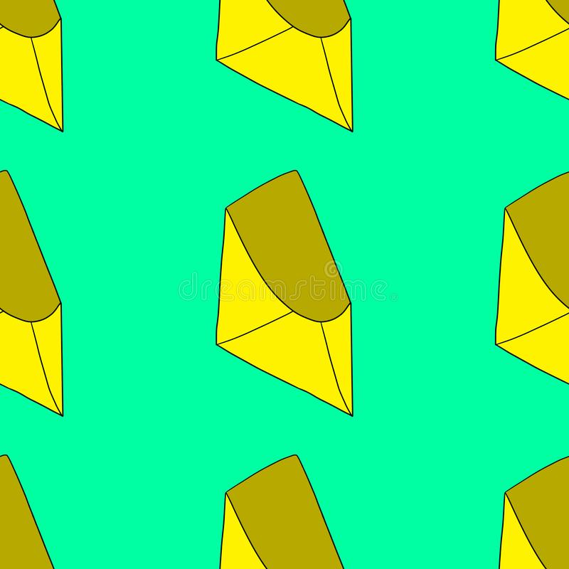 Teste padrão sem emenda do envelope ilustração stock
