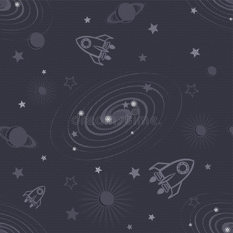 Teste padrão sem emenda do espaço ilustração do vetor
