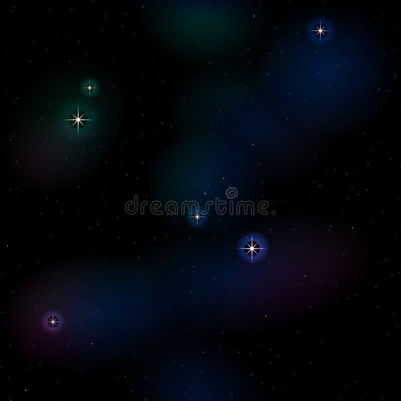 Teste padrão sem emenda do espaço azul profundo imagem de stock