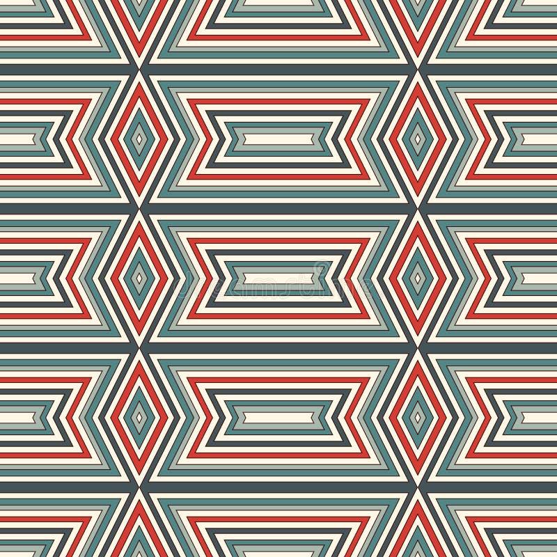Teste padrão sem emenda do estilo étnico Fundo abstrato dos nativos americanos Motivo tribal Papel digital chique de Boho ilustração stock
