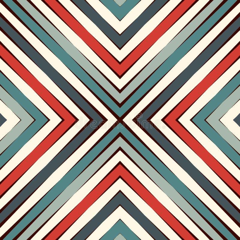 Teste padrão sem emenda do estilo étnico Fundo abstrato dos nativos americanos Motivo tribal Papel digital chique de Boho ilustração do vetor