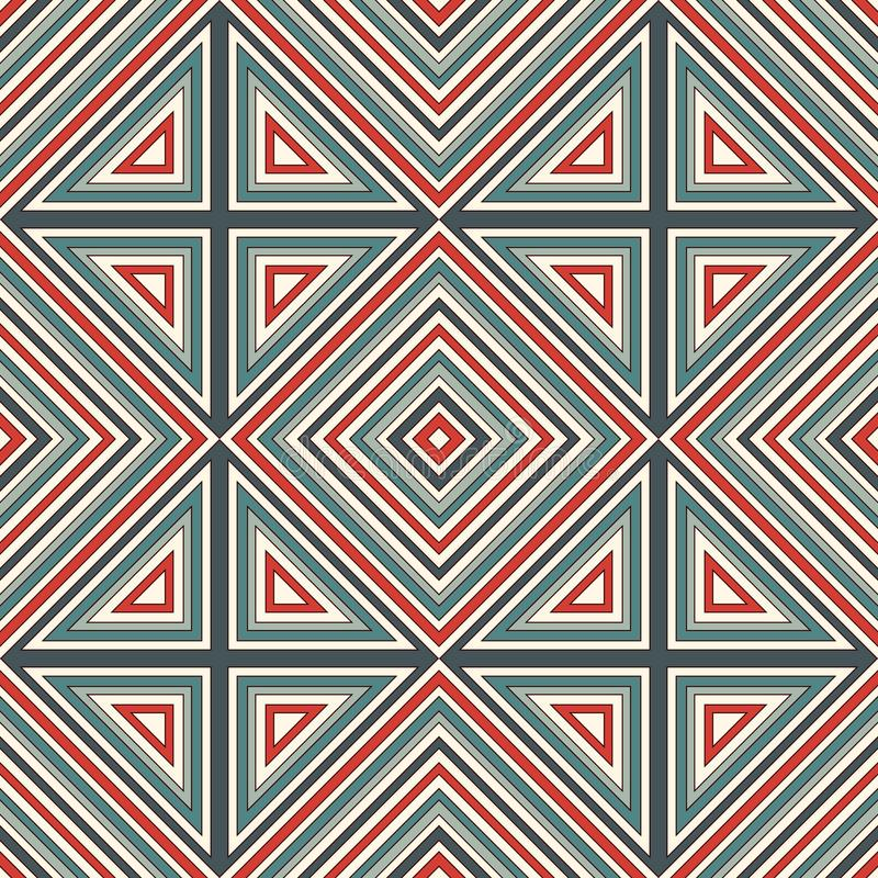 Teste padrão sem emenda do estilo étnico Fundo abstrato dos nativos americanos Motivo tribal Papel digital chique de Boho ilustração royalty free