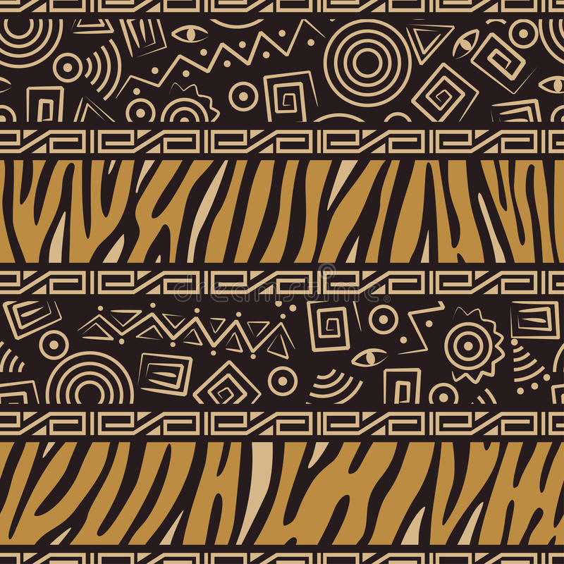 Teste padrão sem emenda do estilo africano ilustração do vetor