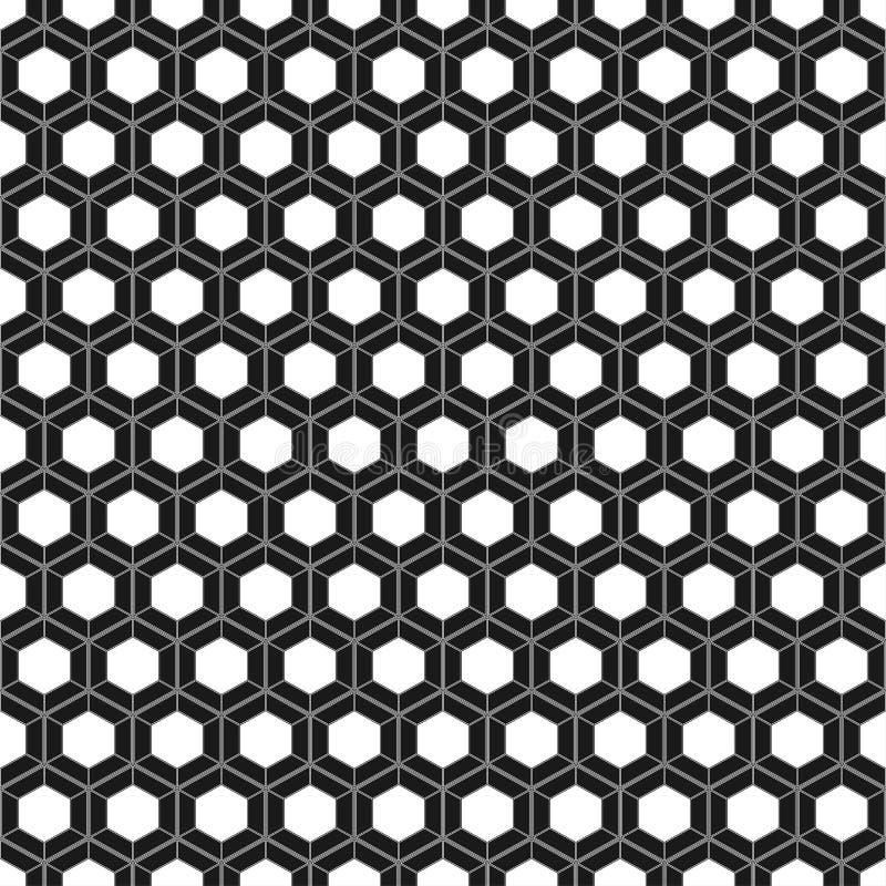 Teste padrão sem emenda do favo de mel Ilustração do vetor Textura sextavada da pilha Fundo da grade Projeto geométrico Sumário à ilustração stock