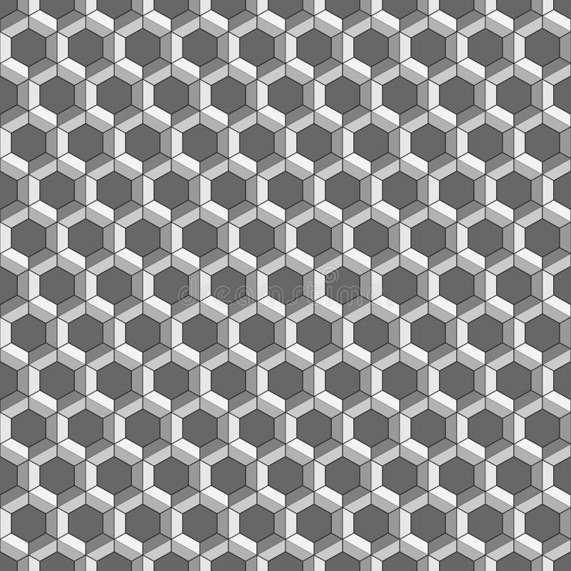 Teste padrão sem emenda do favo de mel Ilustração do vetor Textura sextavada Fundo da grade Projeto geométrico Textur abstrato à  ilustração stock