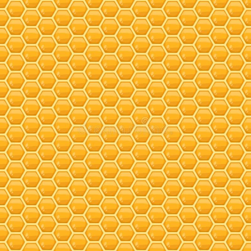 Teste padrão sem emenda do favo de mel do vetor ilustração do vetor