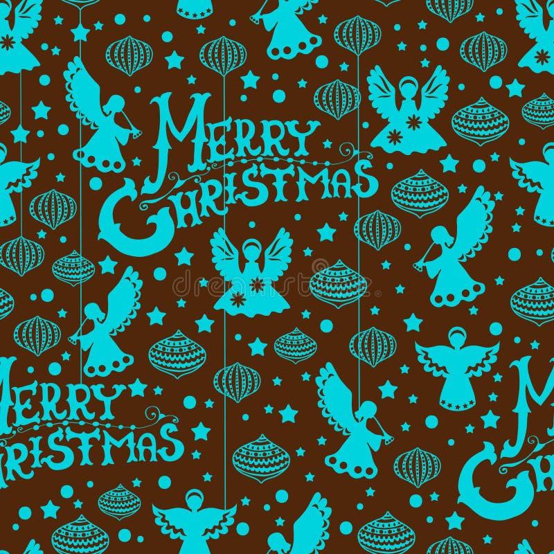 Teste Padrão Sem Emenda Do Feliz Natal Imagens de Stock Royalty Free