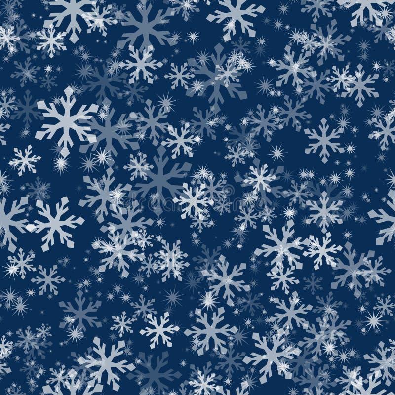 Teste padrão sem emenda do floco de neve ilustração stock