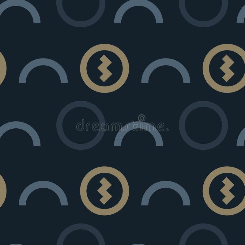 Teste padrão sem emenda do fluxo do dinheiro e de dinheiro ilustração royalty free
