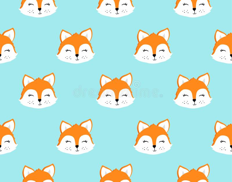 Teste padrão sem emenda do Fox Ilustração do vetor ilustração stock