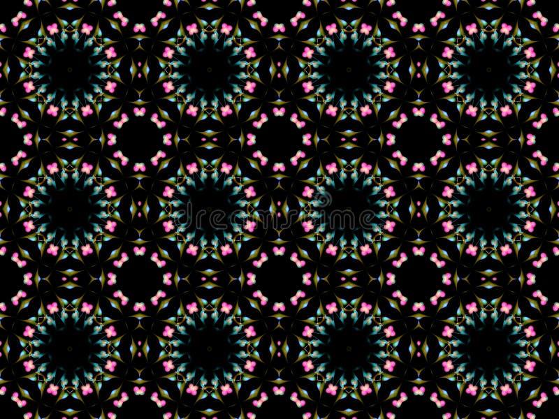 Teste padrão sem emenda do fractal de cores cor-de-rosa e azuis abstratas ilustração do vetor