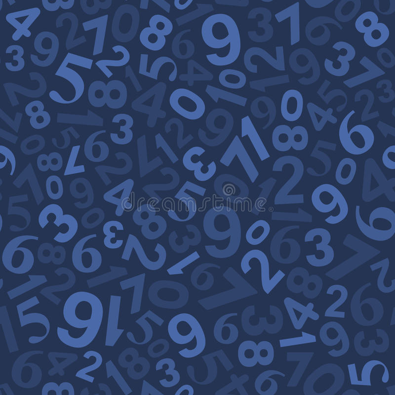 Teste padrão sem emenda do fundo com números Vetor ilustração do vetor