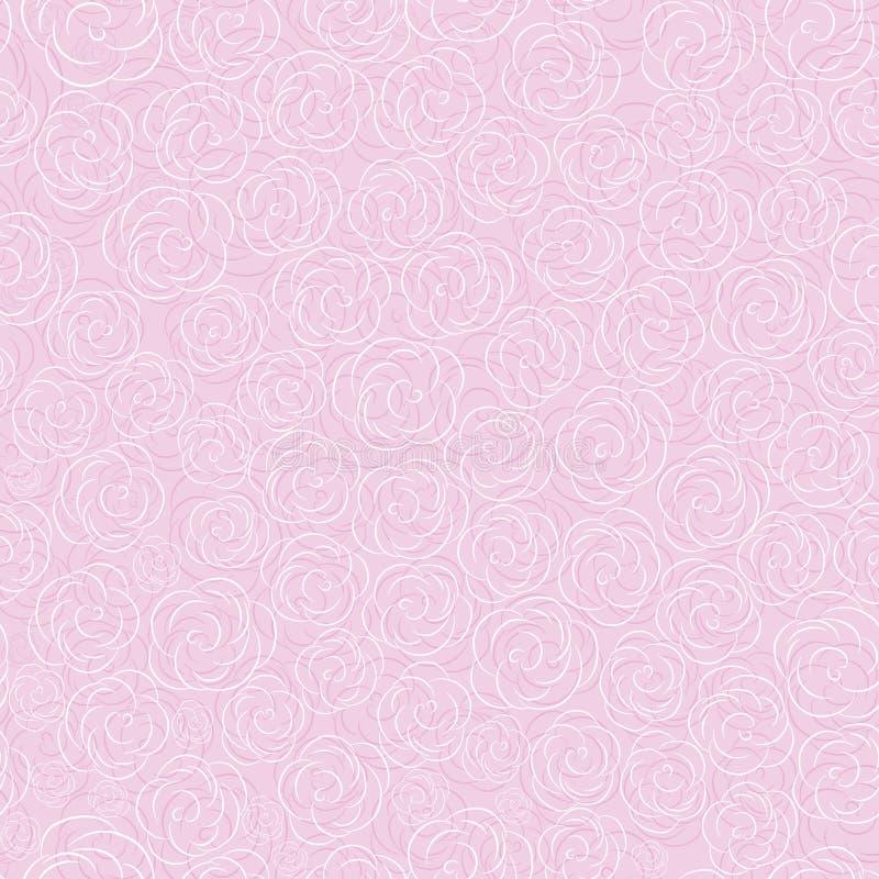 Teste padrão sem emenda do fundo da flor do vetor ilustração stock