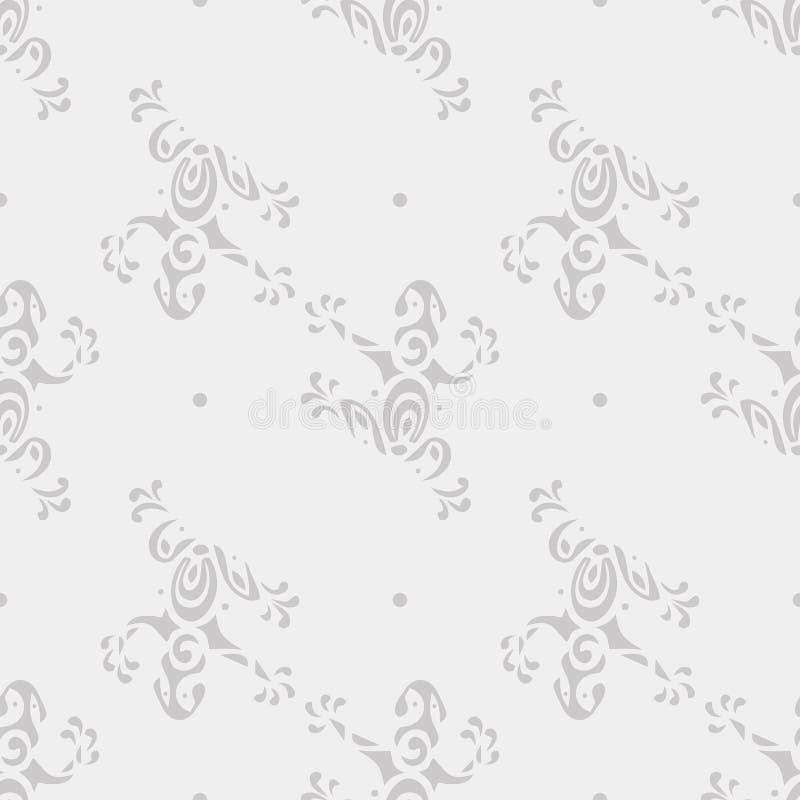 Teste padrão sem emenda do fundo do vetor com as rãs bonitos no estilo maori ilustração royalty free