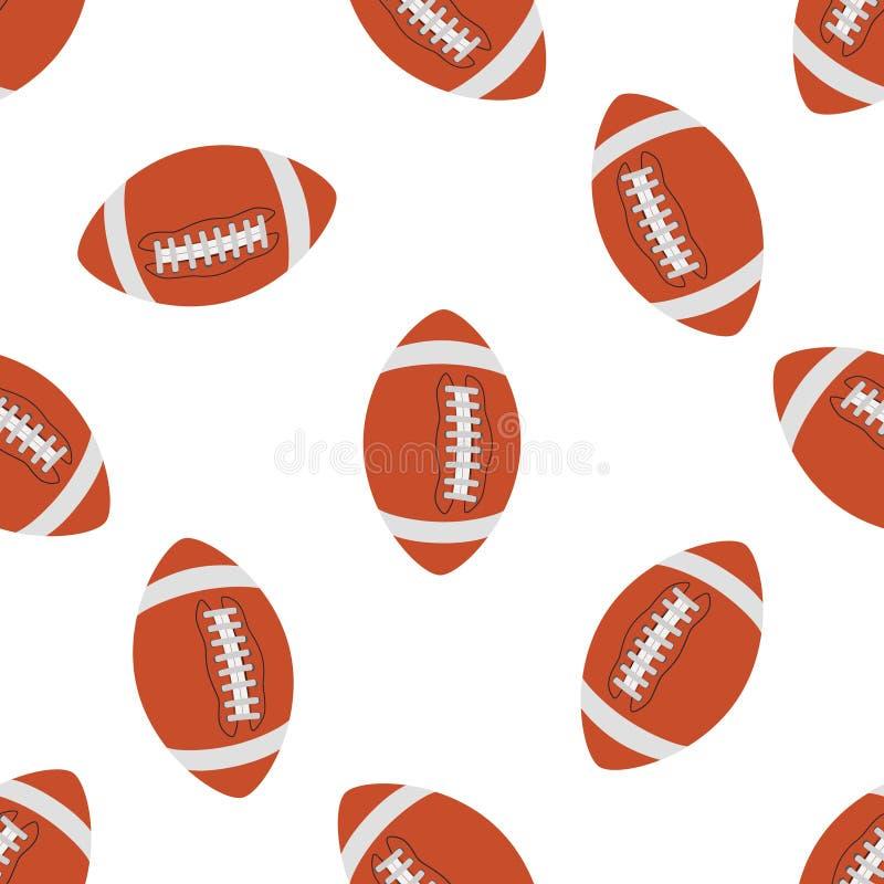 Teste padrão sem emenda do futebol americano Vetor ilustração do vetor