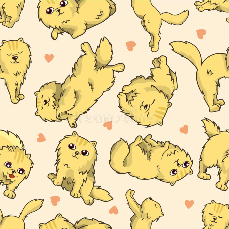 Teste padrão sem emenda do gato ilustração royalty free