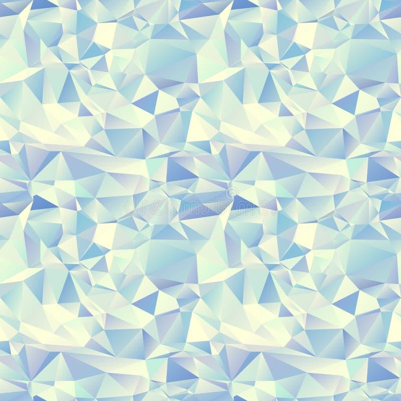 Teste padrão sem emenda do gelo. Fundo de cristal ilustração do vetor