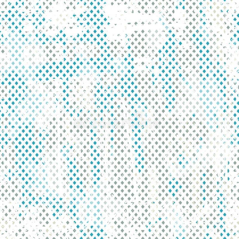 Teste padrão sem emenda do grunge azul ilustração royalty free