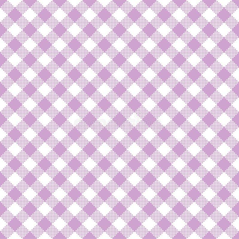 Teste padrão sem emenda do guingão cor-de-rosa ilustração stock