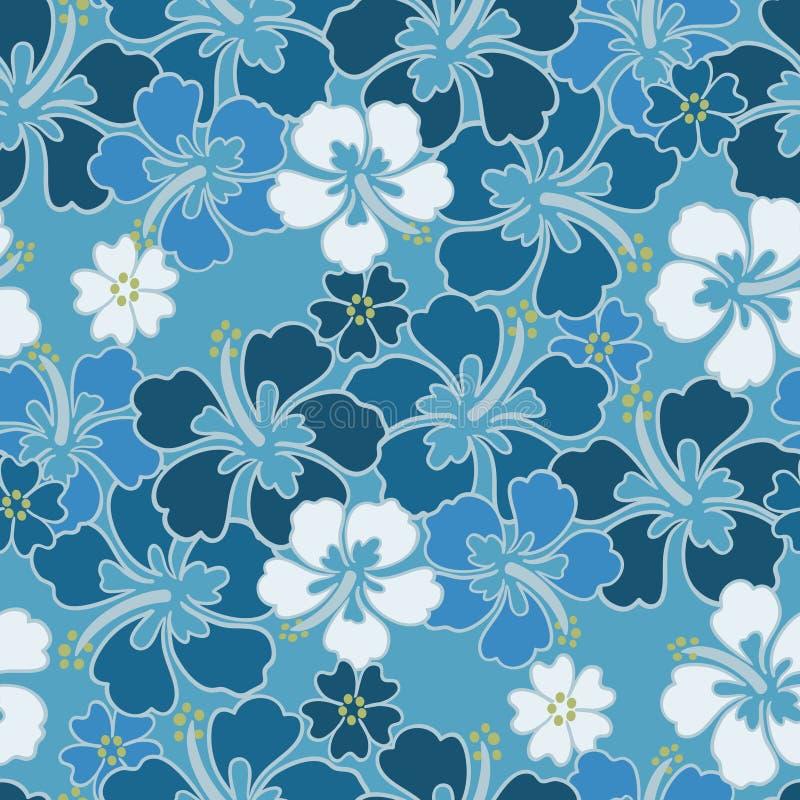 Teste padrão sem emenda do hibiscus foto de stock