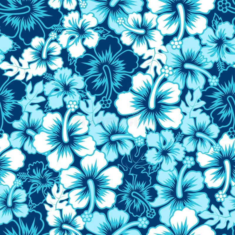 Teste padrão sem emenda do hibiscus floral da ressaca ilustração stock