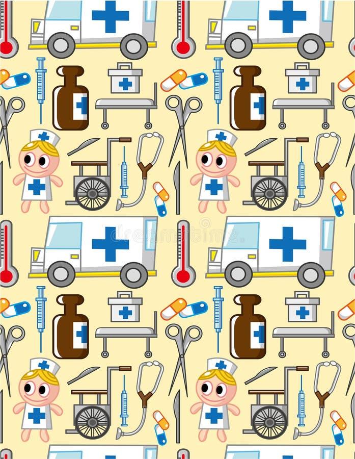 Teste padrão sem emenda do hospital ilustração do vetor