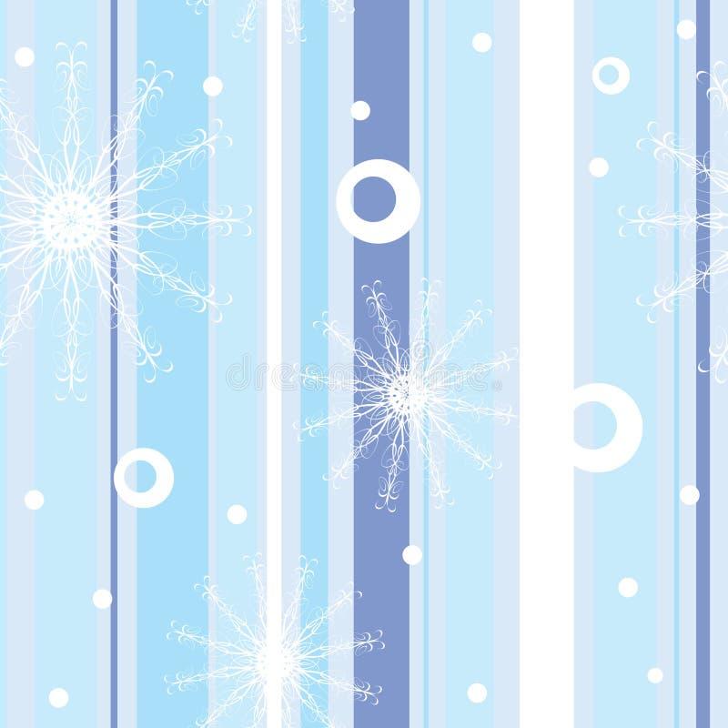 Teste padrão sem emenda do inverno azul com listras ilustração royalty free