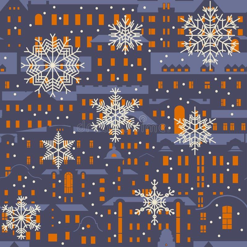 Teste padrão sem emenda do inverno do Natal do vetor ilustração do vetor