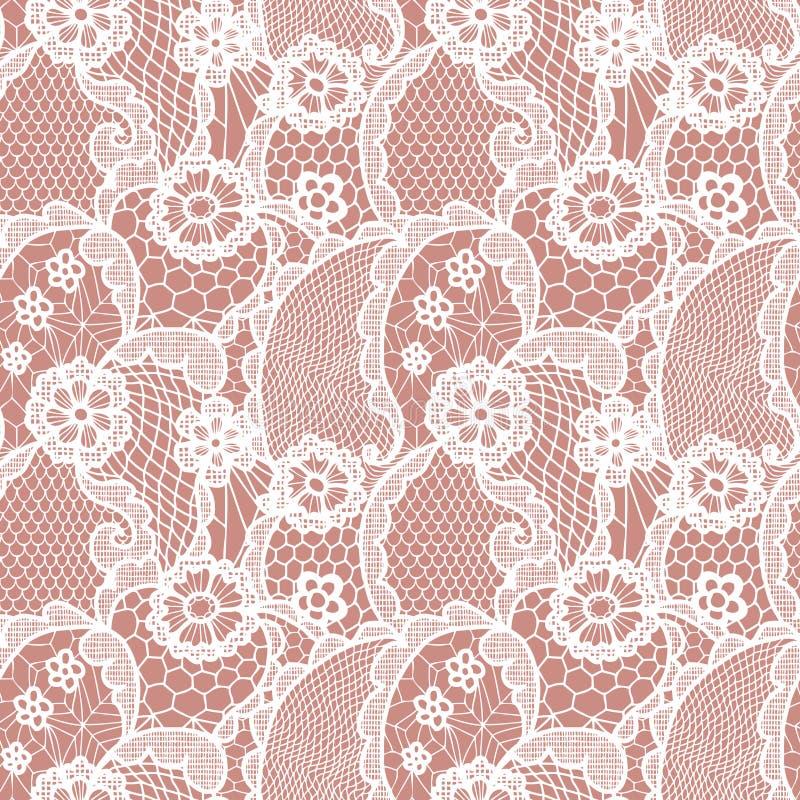 Teste padrão sem emenda do laço com flores ilustração royalty free