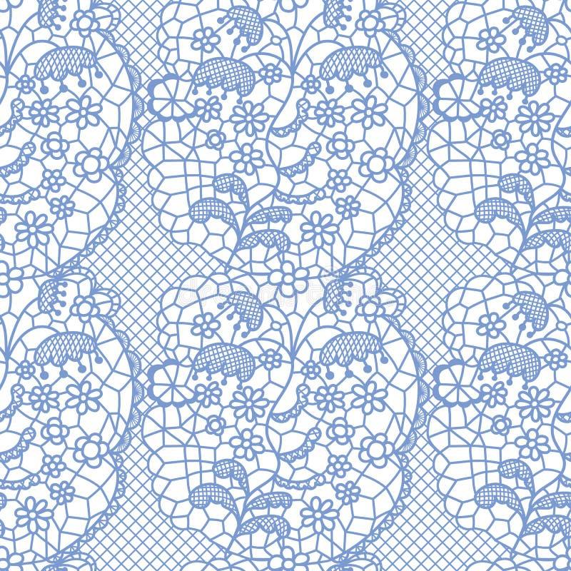 Teste padrão sem emenda do laço com flores ilustração stock