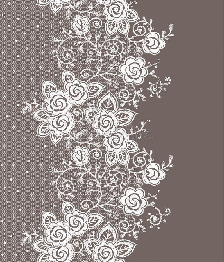 Teste padrão sem emenda do laço vertical ilustração royalty free
