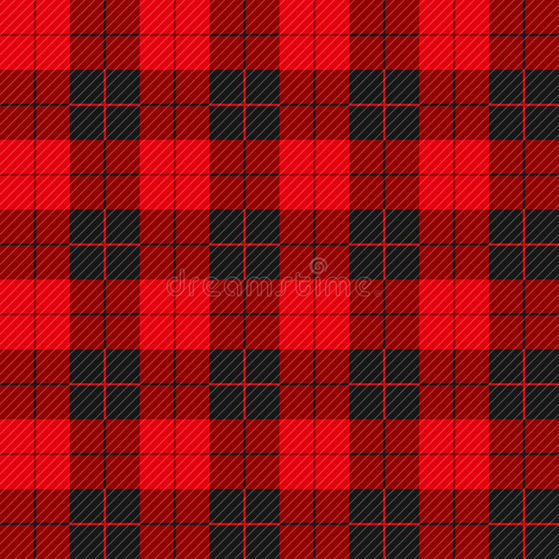 Teste padrão sem emenda do lenhador com linhas diagonais ilustração royalty free