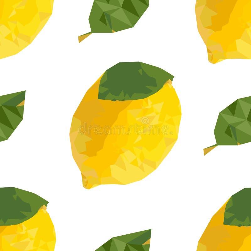 Teste padrão sem emenda do limão ilustração do vetor