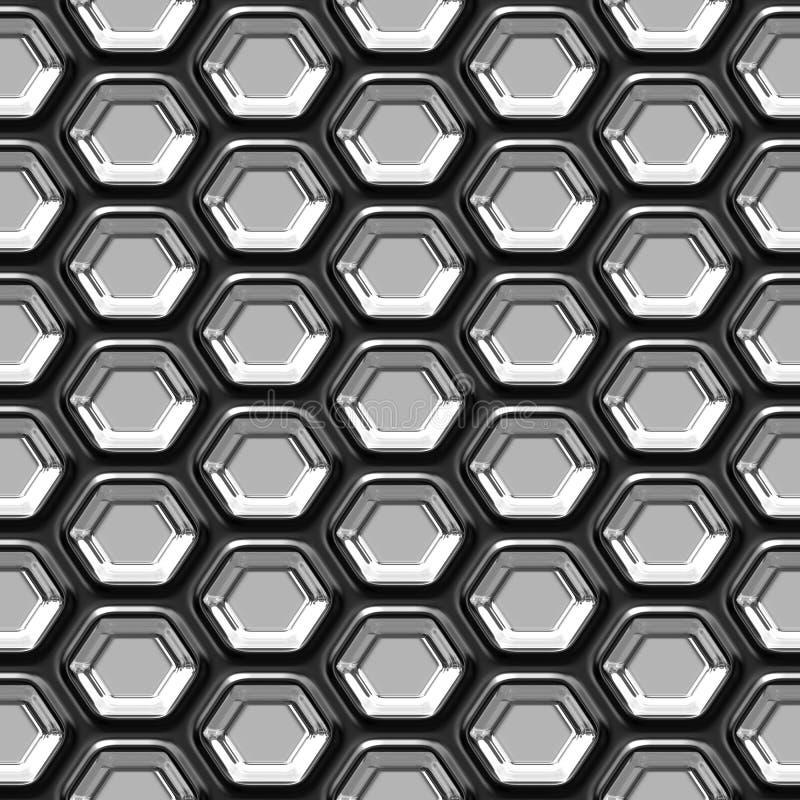 Teste padrão sem emenda do metal abstrato ilustração do vetor