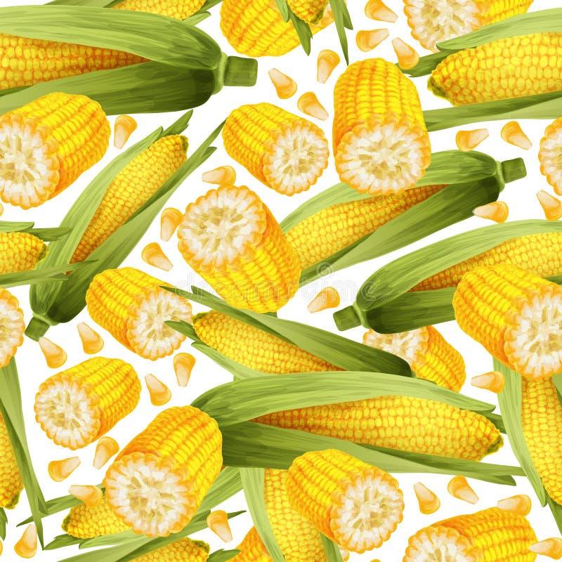 Teste padrão sem emenda do milho ilustração stock