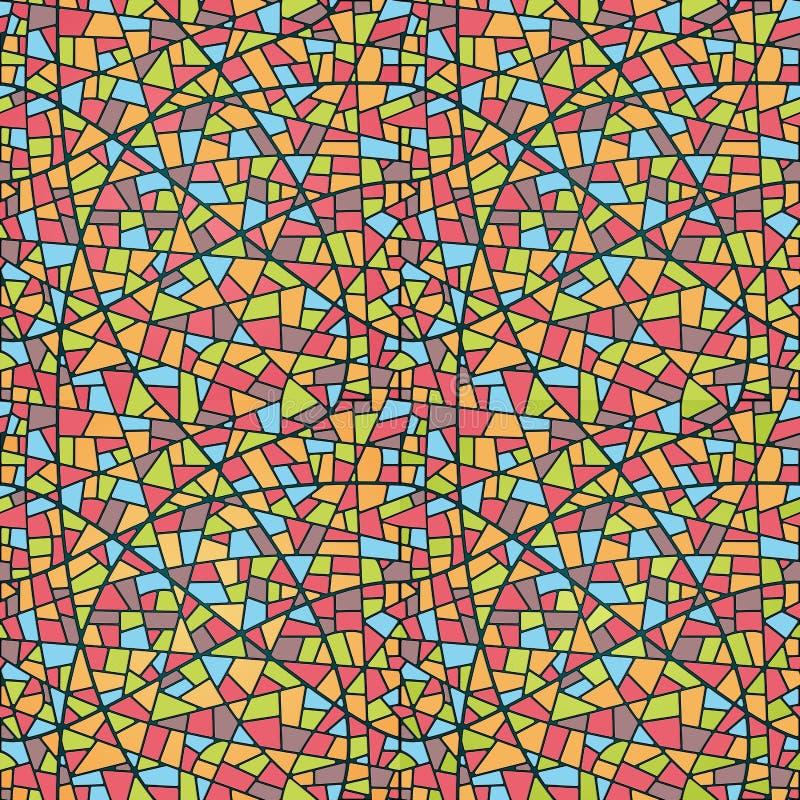 Teste padrão sem emenda do mosaico ilustração do vetor
