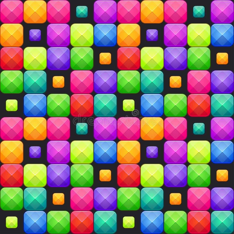 Teste padrão sem emenda do mosaico colorido do sumário Textura do vetor ilustração stock