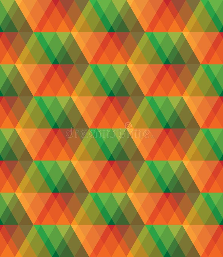 Teste padrão sem emenda do mosaico de vidro colorido do sumário do vetor ilustração stock