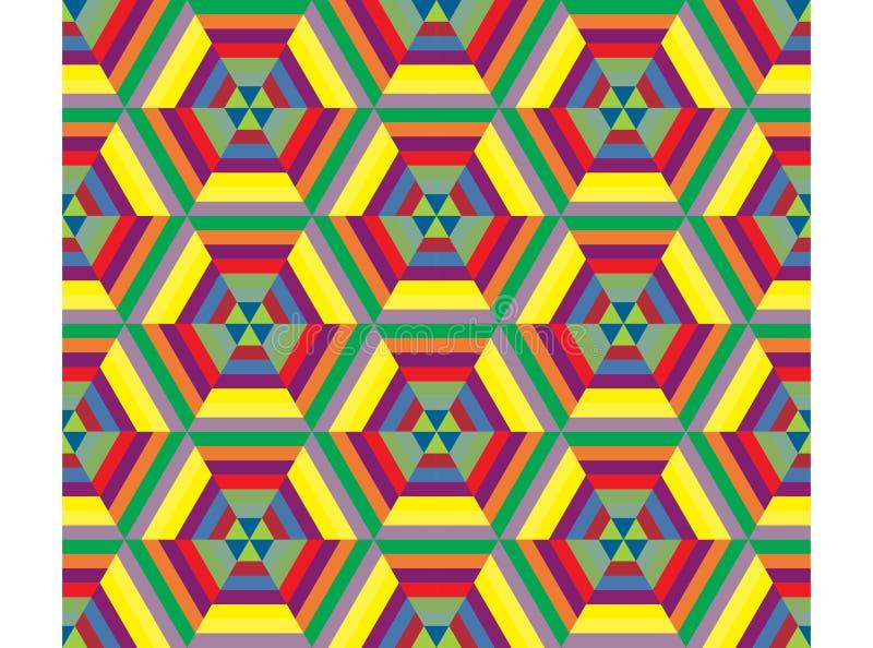 Teste padrão sem emenda do mosaico do hexágono ilustração royalty free