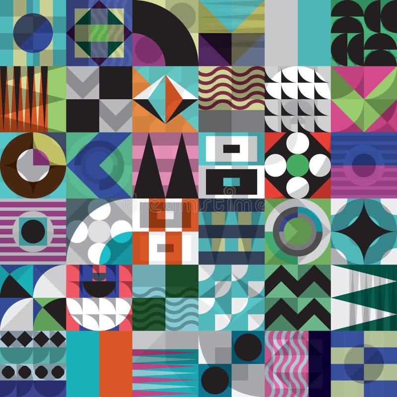 Teste padrão sem emenda do mosaico geométrico ilustração stock