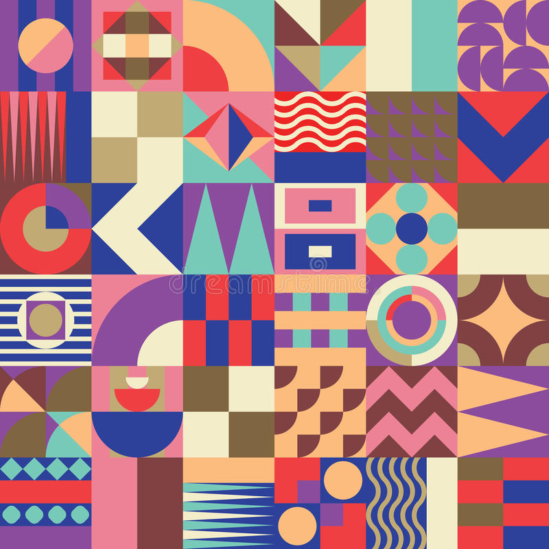 Teste padrão sem emenda do mosaico geométrico ilustração royalty free