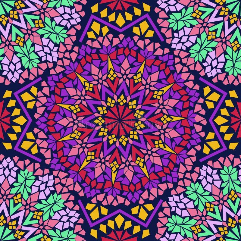 Teste padrão sem emenda do mosaico marroquino ilustração royalty free