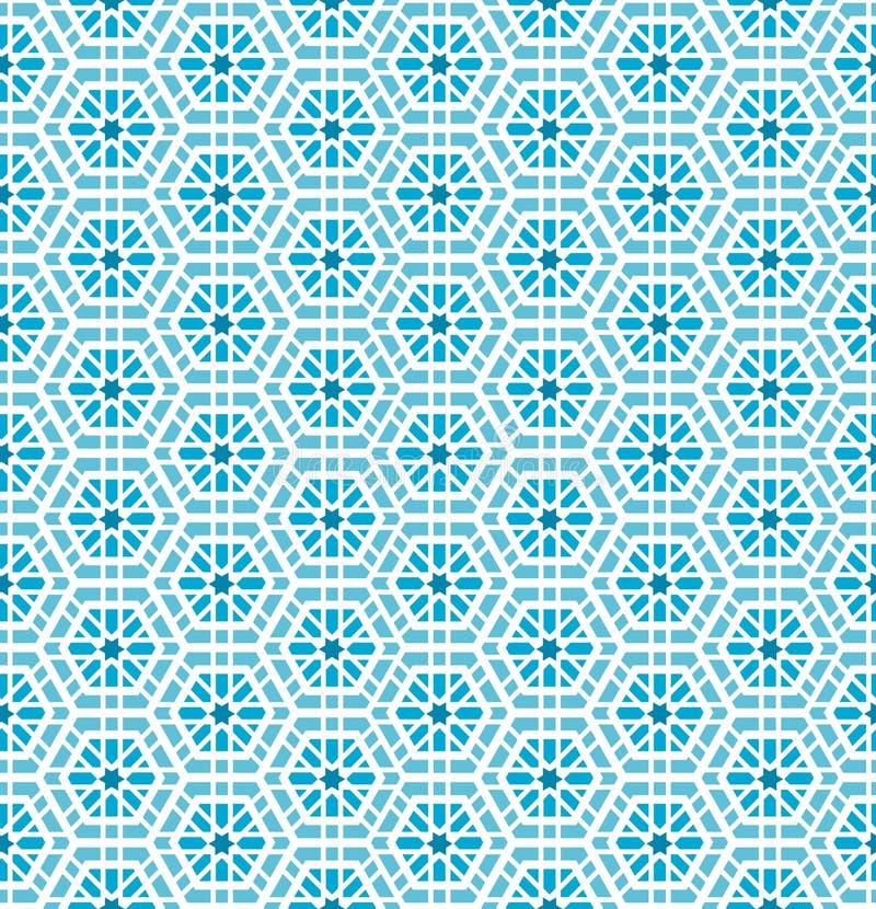 Teste padrão sem emenda do mosaico oriental ilustração royalty free