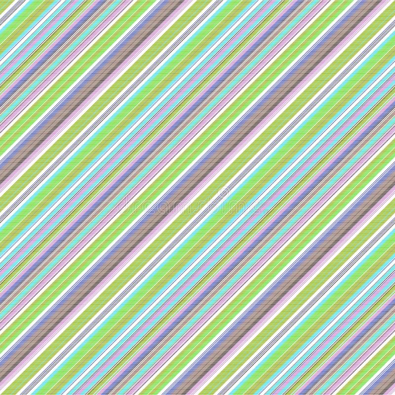 Teste padrão sem emenda do mulicolor listrado abstrato verde ilustração stock