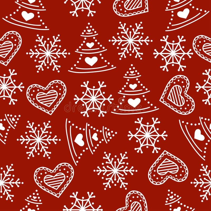 Teste padrão sem emenda do Natal ilustração royalty free