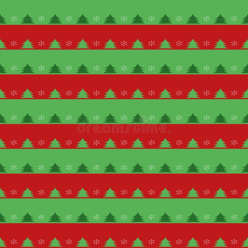 Teste padrão sem emenda do Natal com abeto e flocos de neve Para a tela, a matéria têxtil, o linho, o fundo do página da web, o p ilustração stock
