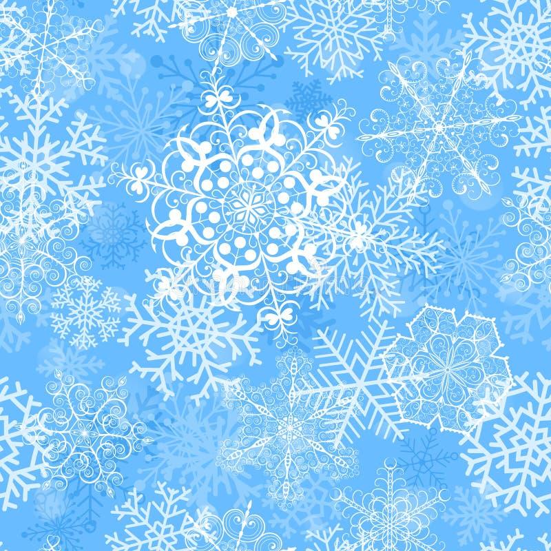 Teste padrão sem emenda do Natal com flocos de neve ilustração royalty free