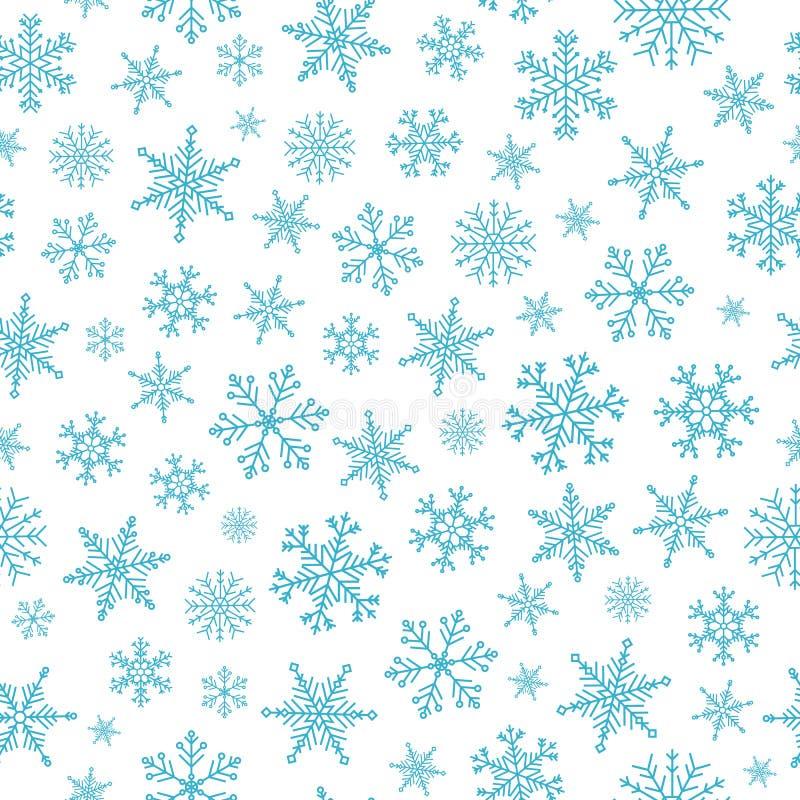 Teste padrão sem emenda do Natal do vetor com flocos de neve criativos ilustração royalty free
